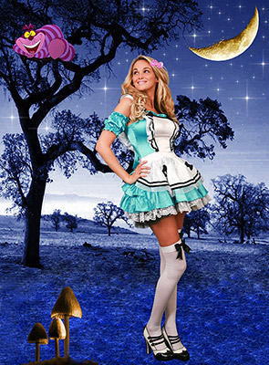 alice in wonderland fantasy composite